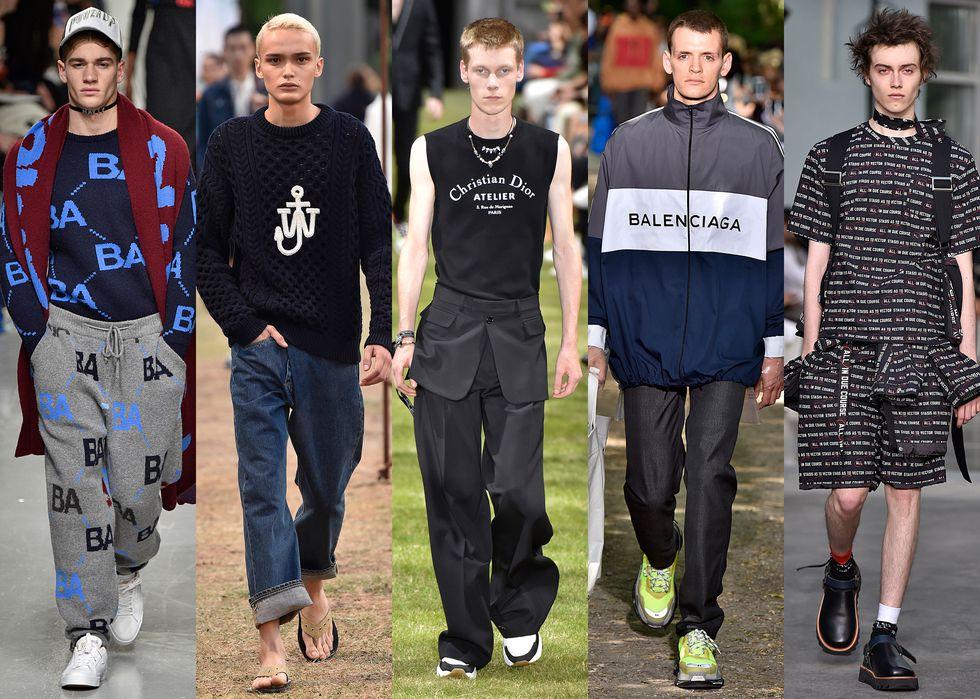 cb411e9816f5c ... opciones de moda masculina de 2018. Las firmas marcan su territorio  (ante las falsificaciones) con logos cada vez más grandes
