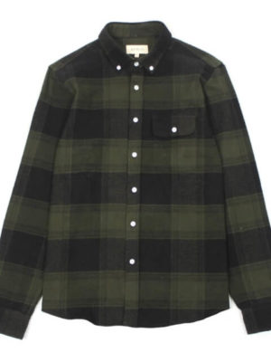 "Camisa ""Larry"" Cuadros Verde 