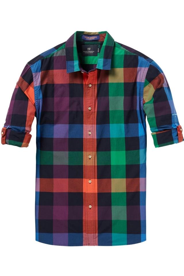Camisa de cuadros de algodón Scotch-&-Soda-Cardenal-Bilbao-FW-2018-2019
