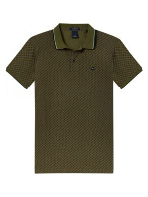 Polo 2 botones Verde | Scotch & Soda